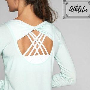 NWT Athleta Mint Open Back Flexlight No Stink Top